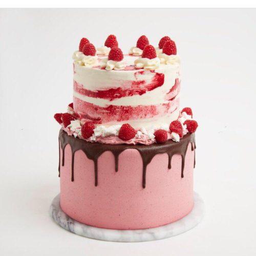 Double-cake-fraise-framboise